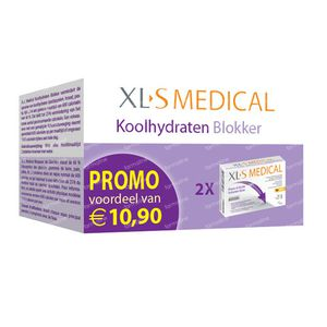 XLS Medical Koolhydraten Blokker Duopack 120  tabletten