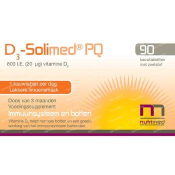D3 Solimed PQ 90 comprimés à croquer
