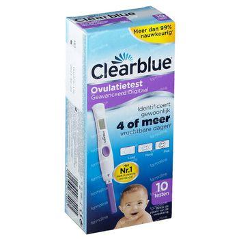 Clearblue Advanced Test d' Ovulation Digital Avancé 10 pièces