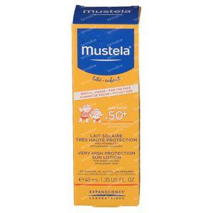 Mustela Bebè Latte Solare SPF50+ Viso 40 ml