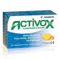 Activox Comprimé À Sucer Maux de Gorge & Toux Sèche 24  comprimés à sucer