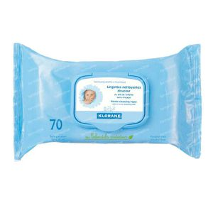 Klorane Baby Cleaning Wipes Biodegradable 70 pezzi