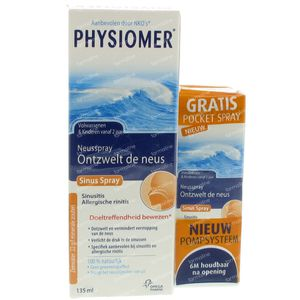 Physiomer Sinus Neusspray + Pocket Spray GRATIS 155 ml