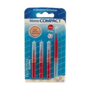 Elgyclinic Interdentale Brush Kegelvormig Rood 4-3mm 4 stuks