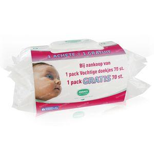 Galenco Baby Vochtige Doekjes + 1 Pack GRATIS 2x70 stuks