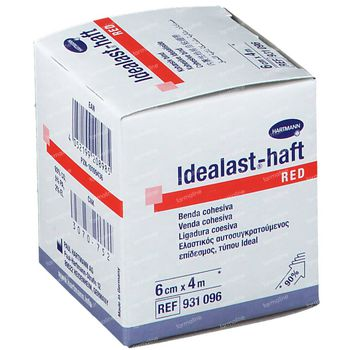 Hartmann Idealast-haft Rood 6cm x 4m 931096 1 stuk