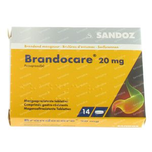 Brandocare Maagsapresist 20mg 14 tabletten