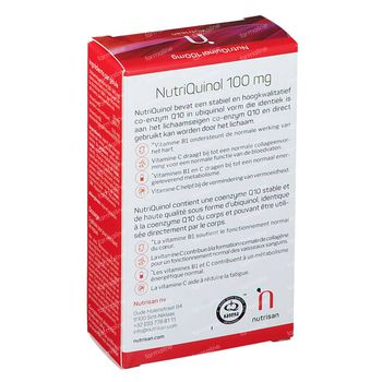 Nutriquinol 100mg 30 softgels