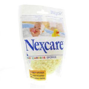 Baby caresse badspons geel latexvrij 1 stuk