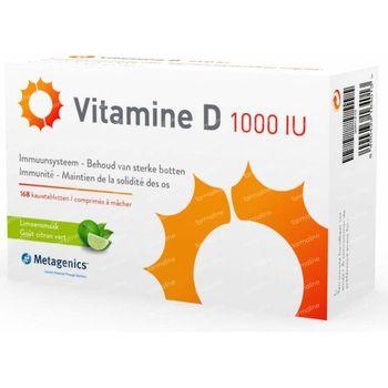 Vitamine D 1000IU 168 comprimés à croquer