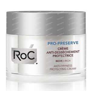Roc Pro-Preserve Beschermende Crème Tegen Droge Huid Rijke Textuur 50 ml