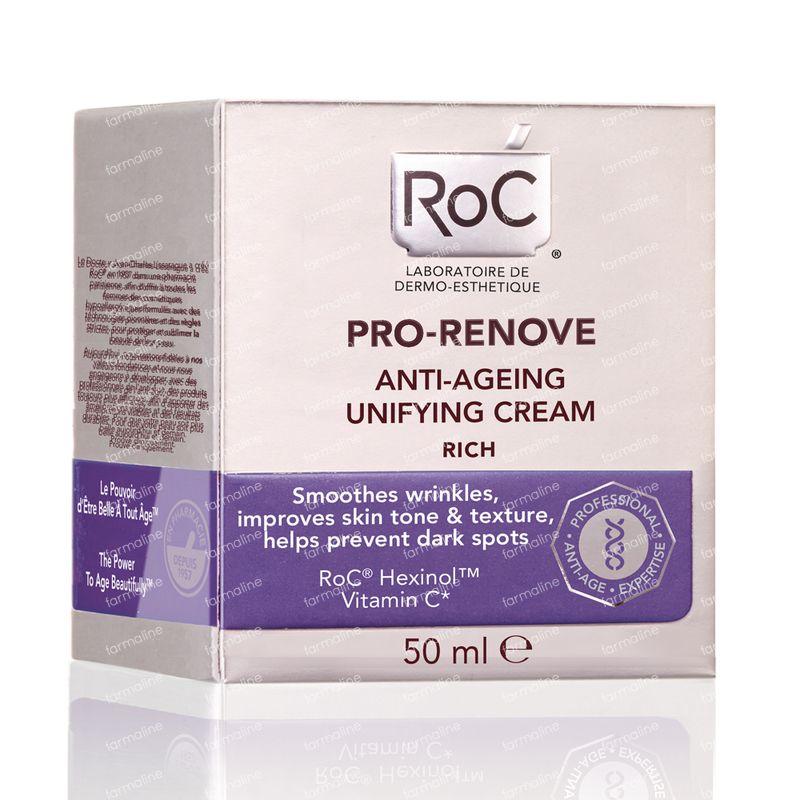 RoC Crème Anti-Âge Unificatrice PRO-RENOVE 50 ml - Vente