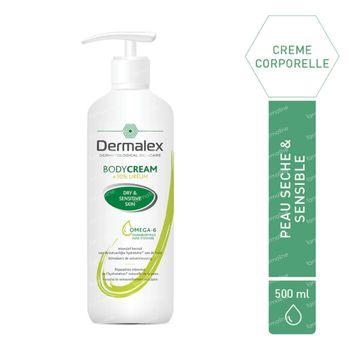 Dermalex Crème Corporelle Hydratation Intense - Peaux Sèches, 10% Urée 500 ml