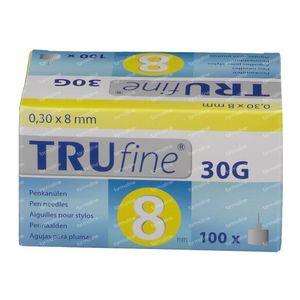 Trufine Pen Naald 30g 0,30x8mm 76003 100 stuks