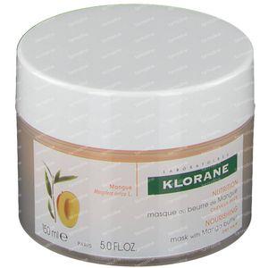 Klorane Masque Réparateur Nutrition Intense Au Beurre De Mangue 150 ml