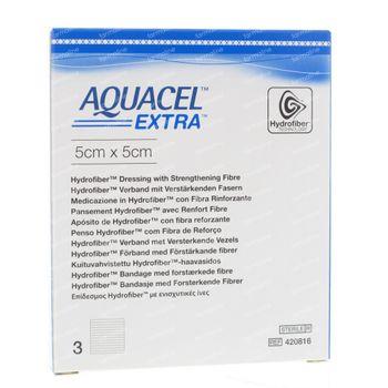 Aquacel Extra Stéril 5x5cm 420816 3 pièces