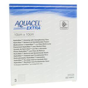 Aquacel Extra Steriel 10x10cm 420815 3 stuk