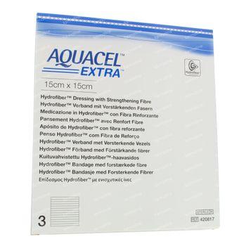 Aquacel Extra Stéril 15x15cm 420817 3 pièces
