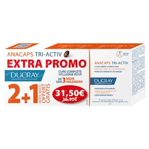 Ducray Anacaps Tri-Activ + 1 Month For FREE 60+30 capsules
