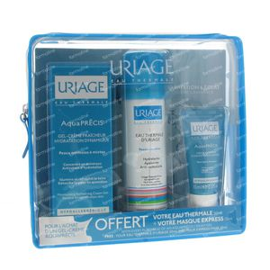 Uriage Aquaprecis Refreshing Gel-cream + FREE Thermal Wasser 50ml and Masque Express 15ml 105 ml