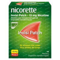 Nicorette® Invisi Patch 15mg - bij Stoppen met Roken 14  pleisters