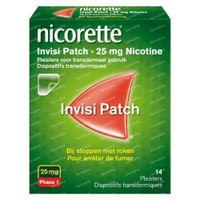 Nicorette® Invisi Patch 25mg - bij Stoppen met Roken 14  pleisters