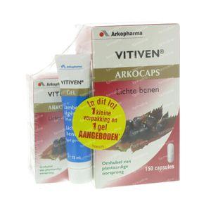Arkogélules Vitiven Vigne Rouge + 45 Capsules & Gel 15 ml Gratuit 150 capsules
