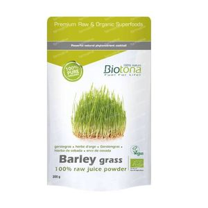 Biotona Bio Barley Grass Raw Juice Powder 200 g polvere