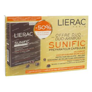 Lierac Sunific Capsules Bronzage DUO Promo 2 x 30 Capsules 60 capsules