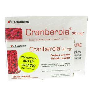 Cranberola Urinair Comfort Promopack 70 capsules