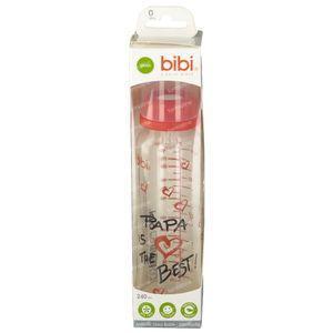 Bibi Zuigfles Mama/Papa Glas 1D 250 ml