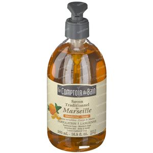 Le Comptoir Du Bain Savon Traditional Marseille Soap Mandarin-Sage 500 ml