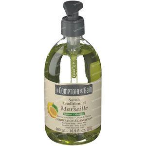 Le Comptoir Du Bain Traditional Marseille Soap Lemon-Mint 500 ml