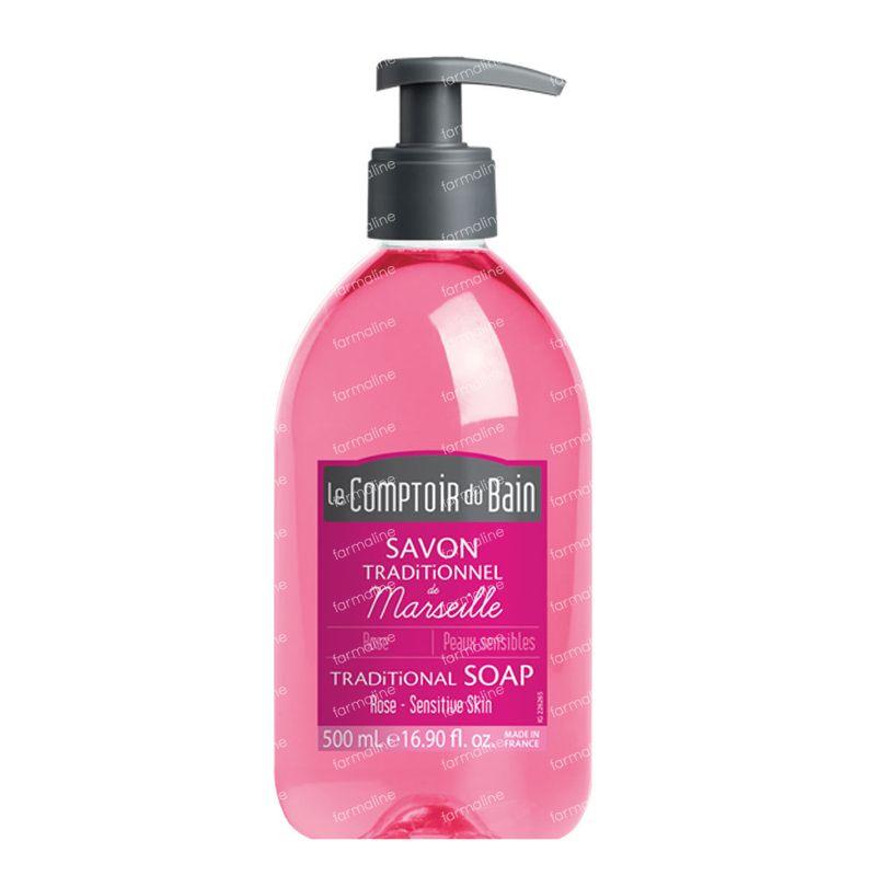 Le comptoir du bain traditional marseille soap rose 500 ml for Le comptoir du meuble bruxelles