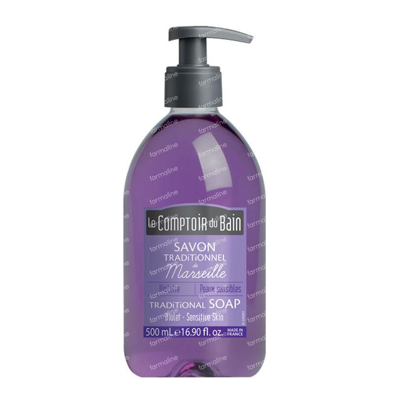 Le comptoir du bain traditional marseille soap violet 500 for Le comptoir du meuble bruxelles