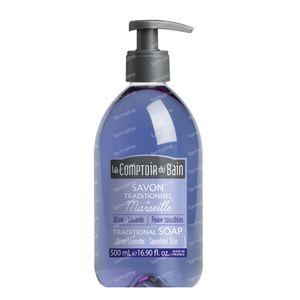 Le Comptoir Du Bain Savon Traditionenel de Marseille Olive-Lavende 500 ml
