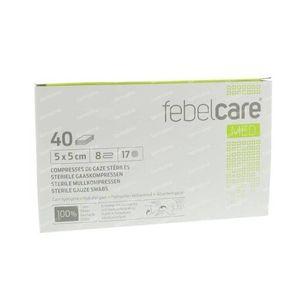 Febelcare Gauze Sterile 5x5cm 40 St