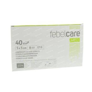 Febelcare Gaze Stérile 5x5cm 40 pièces