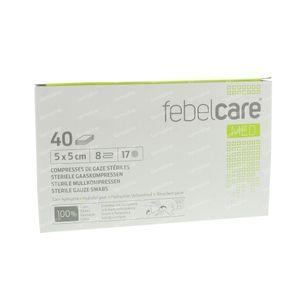 Febelcare Gauze Sterile 5x5cm 40 pieces