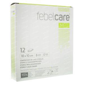 Febelcare Gauze Sterile 10x10cm 12 pieces