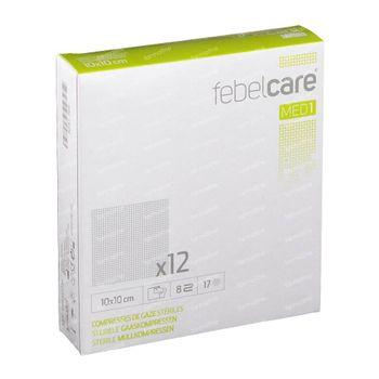 Febelcare Gaze Stérile 10x10cm 12 pièces