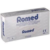 Romed Chirurgische Wegwerphandschoen Vinyl Large 100 st