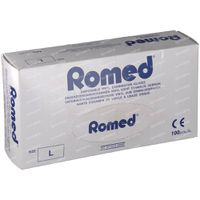 Romed Gants Chirurgicaux En Vinyle Jetable Large 100 st