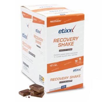 Etixx Recovery Shake Chocolat 12x50 g sachets