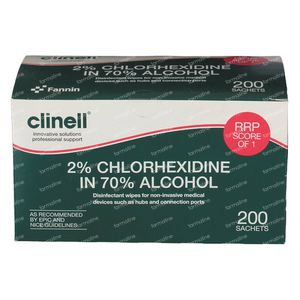 Clinell Alcohol Wipes 2% Chloorhexidine 200 pieces