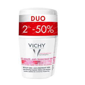 Vichy Deodorant Anti-Transpiratie Anti-Haargroei 48h Duo 2x50 ml