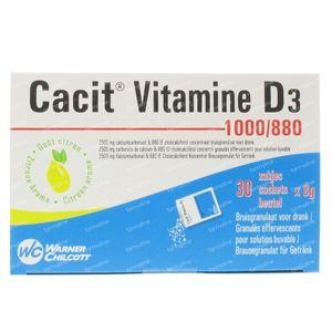 Cacit Vitamine D3 Impexeco 1000/880 30 zakjes