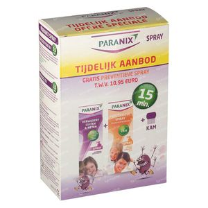 Paranix Duo + Spray Préventif + Peigne + Sleeve 1 St