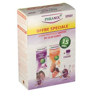 Paranix Spray Duo + Preventative Spray + Comb + Sleeve 1 St