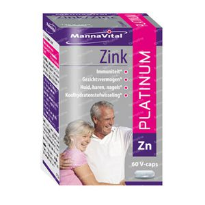 Mannavital Zink Platinum V-Caps 60 St capsules